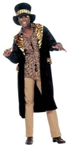 Black & Gold Pimp Daddy Costume